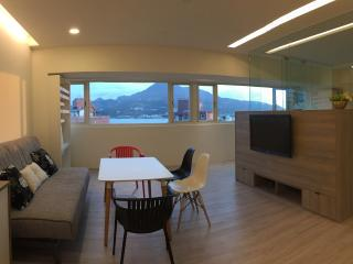 Sunny apartment with amazing river & mountain view, Taipei