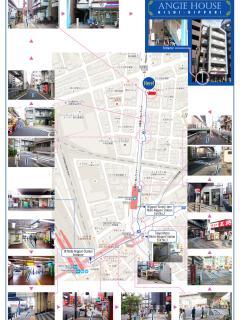 Map from Nishinipori station