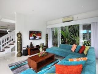 Lounge area with widescreen TV
