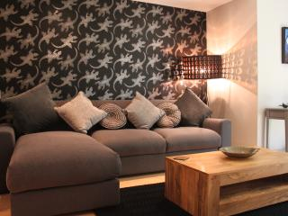 The settee in the lounge converts into a sizeable sofa bed