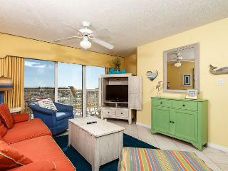 Bright colors and wooden accents through out the condo give 116