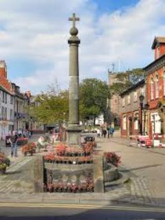 Poulton town centre a market town 10 minute drive away