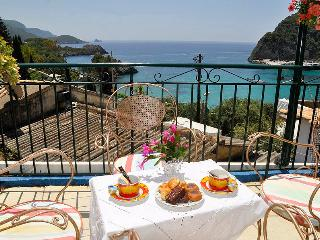 Sea view apartment for 4- 5p quiet, secluded, Paleokastritsa