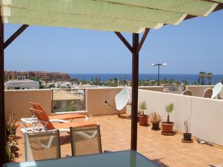 Sea view and large sunny terrace apartment, Palm-Mar