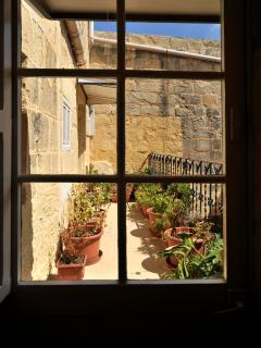 french window leading to terrace