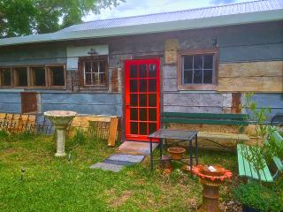 The private entrance to the Pecan Grove bedroom