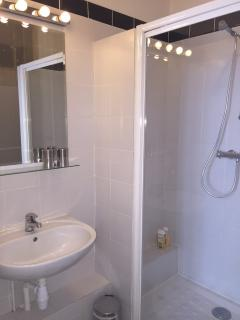 Ensuite private bathroom with shower and toilets