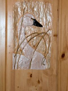 Swan Door Carving