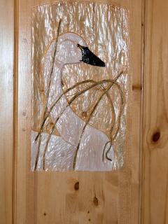 Swan Door Carving