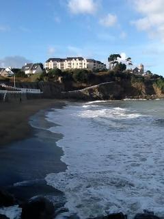 vue sur la résidence de la plage
