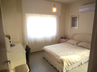 Bedroom 1 with double bed and air con