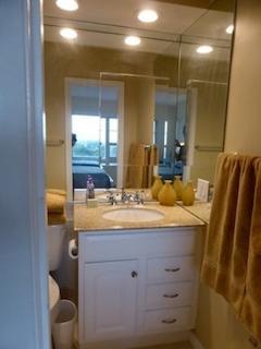 Guest Bathroom  Granite counter top