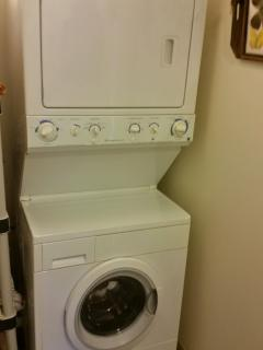 En-suite washer and dryer included in rental fee.