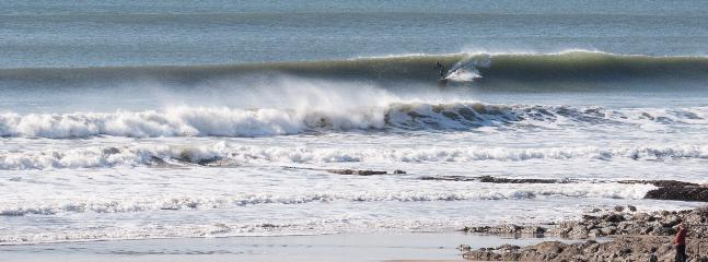 Woolacombe beach can serve up world-class beginner and advanced surfing conditions.
