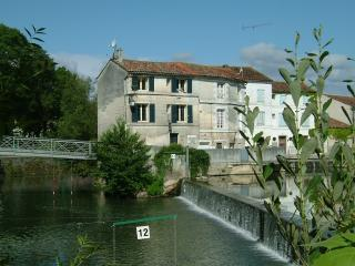 Front view of house. Kingfishers are frequently seen fishing on the weir.