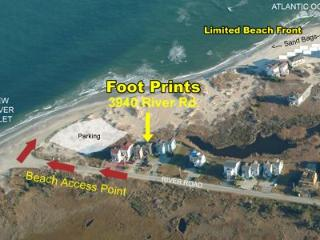 Aerial view showing location of duplex