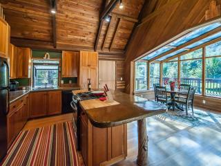 Our cabin provides a great setting for entertaining a small gathering.