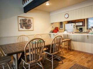 Plan your day on the mountain at the breakfast bar with seating for 2.