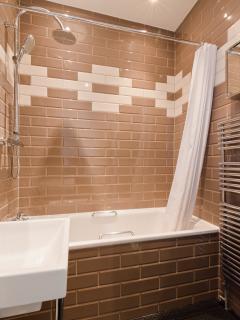 Family Bathroom 1 with Bath, power shower