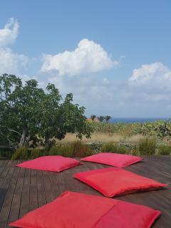 Area relax sulla terrazza