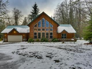 Dog-friendly riverfront home w/ private hot tub and two acres!