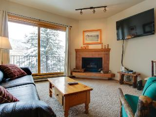 Affordable, cozy condo, walking distance to slopes, with shared pool & hot tub!