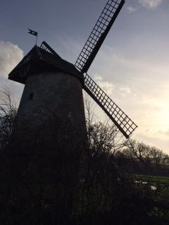 Bembridge windmill in late afternoon sun