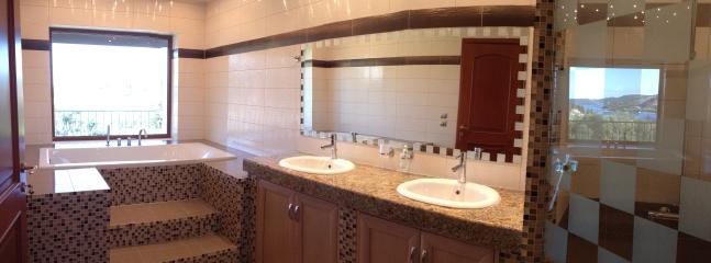 Master Ensuite with the whole of Kassiopi village at it's feet.