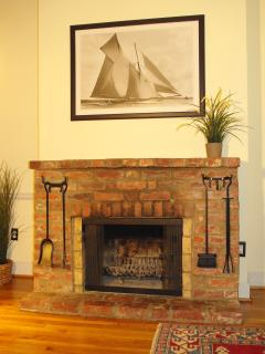 Wood burning fireplace, with firewood provided (there is also central heating).