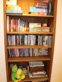 DVD and game library. We've also got tons of stuff for kids, including playpens, cribs, strollers.