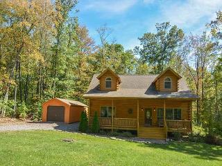 Elegant & Stylish 3 Bedroom Log Cabin with bubbling outdoor hot tub!, McHenry