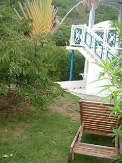 accès au rez de jardin studio voyageur