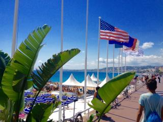 The Promenade des Anglais all year round for biking or walking. Private Beach clubs and restaurants