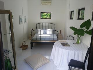 Quiet Tropical Garden Bedroom in Colonial House