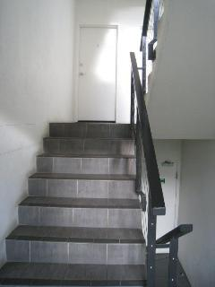 Stairwell entrance to apartment