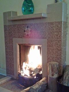 Sitting room - open hearth fire (coal/wood/turf)