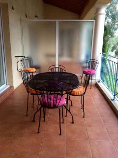 Large patio for dining al fresco