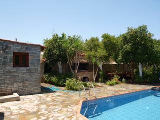 ELEGANT VILLA LIAKOS WITH POOL NEAR FROM SEA AND TOWN IN A TRADITIONAL VILLAGE.