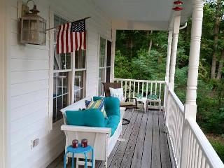 Back porch facing the river