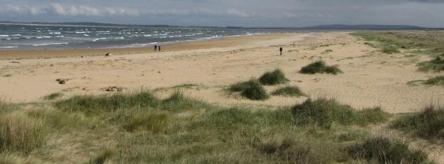 The award winning Dornoch beach.