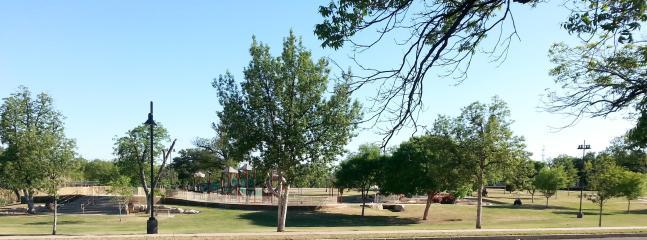 The lovely park across the street.