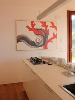 L'area preparazione della cucina.