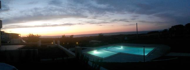 La bellissima veduta al tramonto del Golfo dell'Asinara