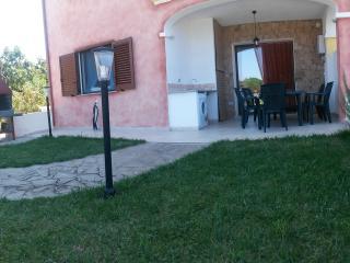 Il patio ed il giardino privato