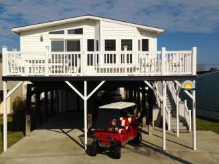 Autism-friendly town, DOGS OK, Linens, Golf Cart, Surfside Beach