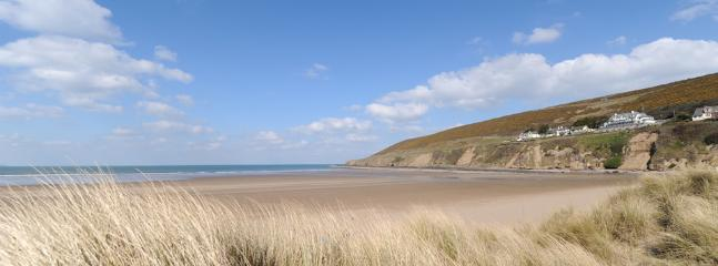 The massive Saunton Sands great for surfing and a short drive from Primrose House