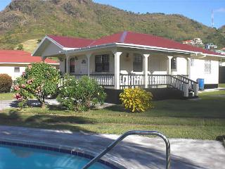 Mango tree villa near beach, town, St. Vincent