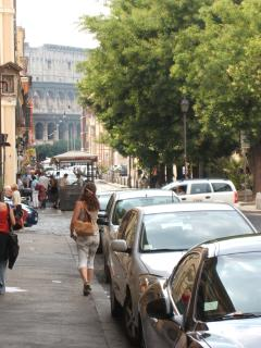 A view of Colosseo from front of studio building
