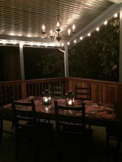 Outside dinning area - Night
