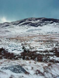 Ben Sgiathan in very rare winter snow